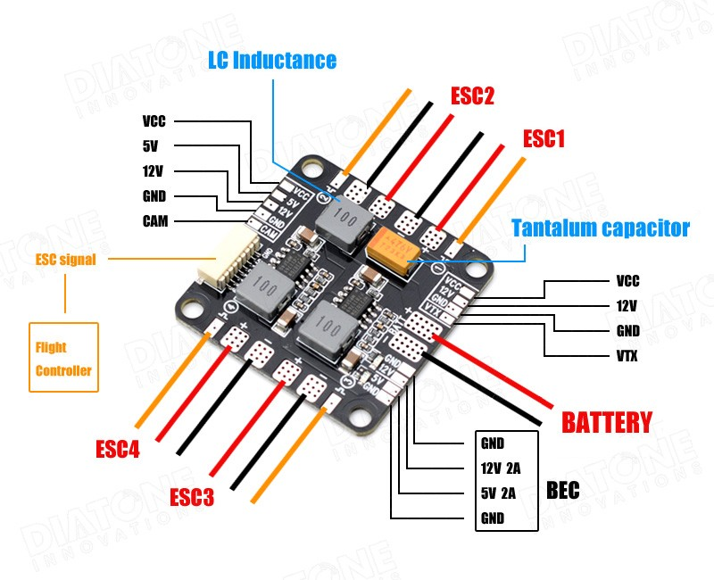 Diatone V83 Lc Filter Power Hub. More Views. Wiring. Fpv Hub Wiring Diagram At Eloancard.info