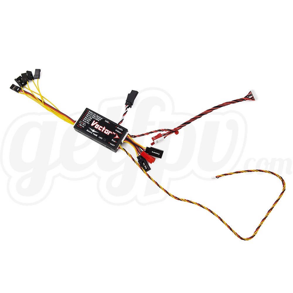 eagle tree vector fpv controller with color osd  wire leads