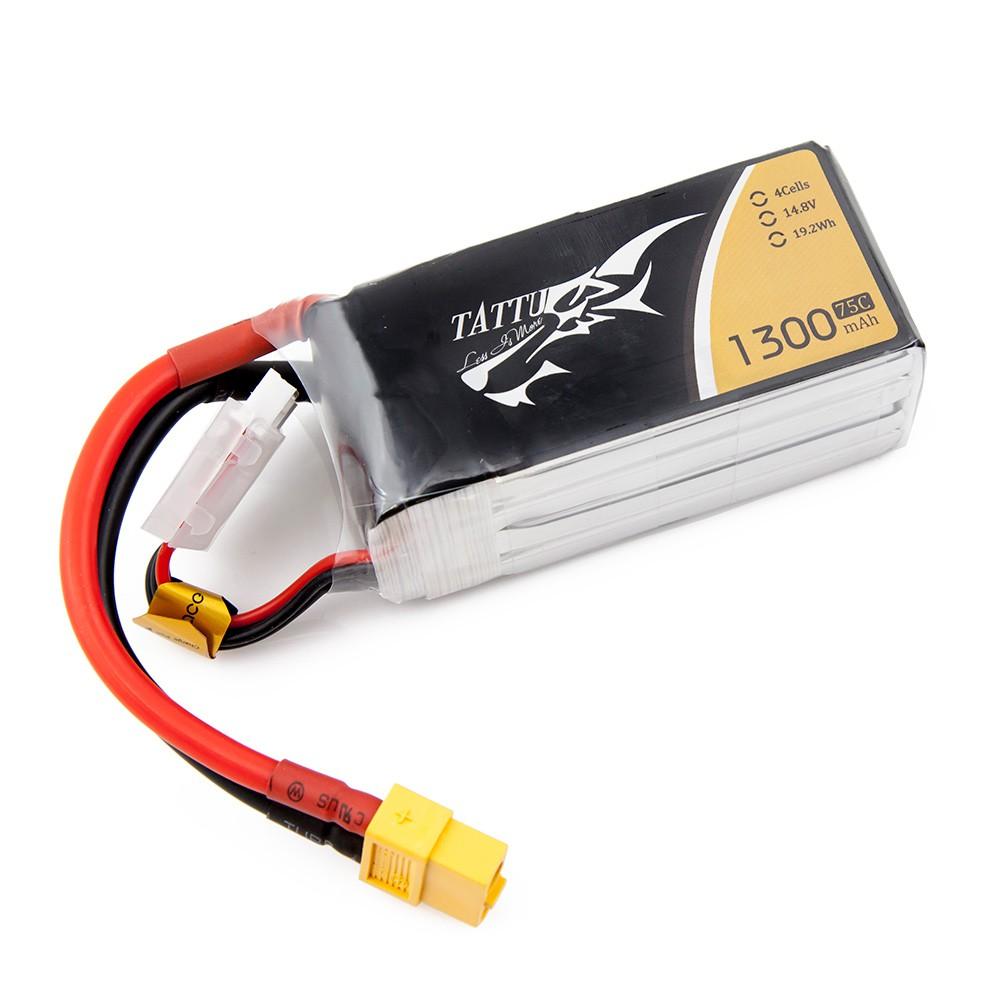 TATTU 1300mAh 4s 75c Lipo Battery