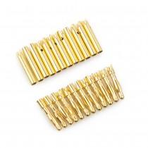 """2mm Gold """"Bullet"""" Connectors (12 Pair)"""