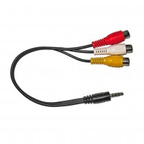 30cm A/V Cable - 3.5mm 4 Pole to RCA