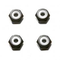 M5 Black Aluminum Lock Nut (set of 4)