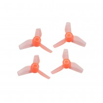 Rakonheli 31MM 3 Blade Clear Propeller (2CW+2CCW; 0.8MM Shaft) - Orange