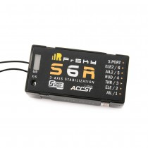 FrSky S6R 6ch Receiver w/ 3-Axis Stabilization + Smart Port Telemetry