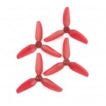 HQProp DP 3x3x3 PC Propeller - 3 Blade (Light Red - Set of 4)