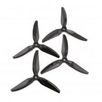 HQProp DP 5x4.5x3V1S PC - 3 Blades (Set of 4 - Black)
