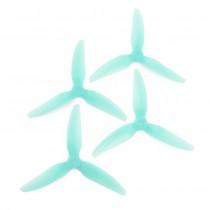 HQProp DP 5x4.5x3V1S PC - 3 Blades (Set of 4 - Light Blue)