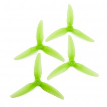 HQProp DP 5x4.5x3V1S PC - 3 Blades (Set of 4 - Light Green)