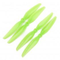 HQProp 7x4.5V1S PC Propeller - 2 Blade (Light Green - Set of 4)