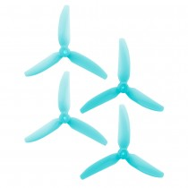 HQProp DP 5x4.3x3 PC V1S Light Blue Propeller - 3 Blade (2CW+2CCW/Bag)