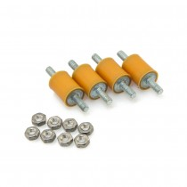 Orange Silicone Bobbins (4pcs with nuts)