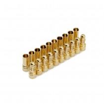 """3.5mm Gold """"Bullet"""" Connectors (12 Pair)"""