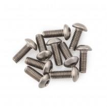 M3x8 Button Head Titanium Screws (10pcs)