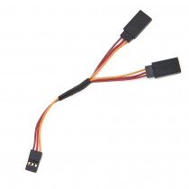 Servo Y Splitter Cable - Male to 2x Female 26AWG