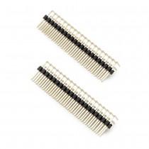 Right Angle Pin Header 2 Row, 20 Pin, 2.54mm Pitch (2pcs)