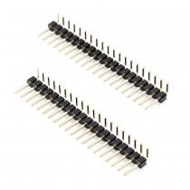 Right Angle Pin Header 1 Row, 20 Pin, 2.54mm Pitch (2pcs)