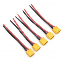 Yellow XT60 Lipo Pigtail 16AWG Wire (5pcs)