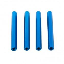 Blue Hex Standoffs 50mm (4 pcs)