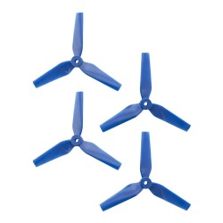 DAL 5x4.4 - 3 Blade, Blue Trapezoid Propeller - T5044 (Set of 4)