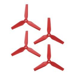 DAL 5x4.4 - 3 Blade, Red Trapezoid Propeller - T5044 (Set of 4)