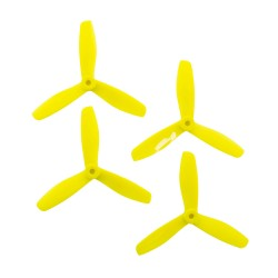 Gemfan 5x4.5 - Fura Fluo Yellow Bullnose 3 Blade Master Propellers (Set of 4)