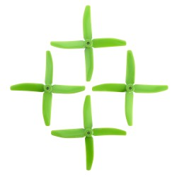 DAL 5x4 Propellers - 4 Blade (2 Pack - Green)