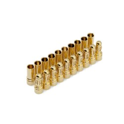"3.5mm Gold ""Bullet"" Connectors (12 Pair)"