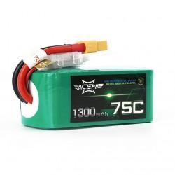 AceHE Racing Series 1300MaH 75C 6S Lipo Battery