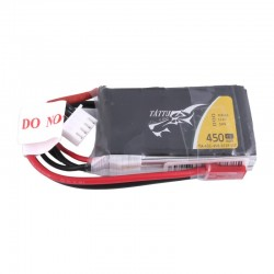 Tattu 450mAh 11.1V 45C 3S1P Lipo Battery Pack (JST-SYP)