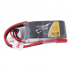 Tattu 800mAh 7.4V 45C 2S1P Lipo Battery Pack (JST)