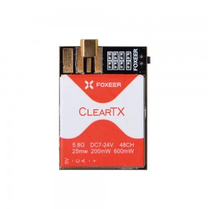 Foxeer ClearTX 5.8G 25/200/600mW Video Transmitter w/ RaceBand, Pit Mode - US Version