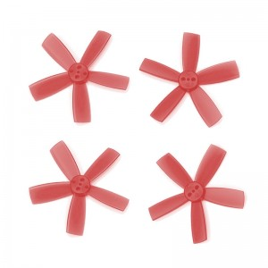 "DYS 2"" 5 Blade, Red Propeller - Set of 4 (2x CW, 2x CCW)"