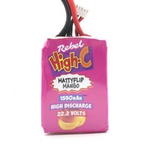 Rebel 1550mAh 6s Lipo Battery