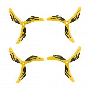 Azure Power 5045 V2 HGP Enhanced Glass Fiber Propeller - 3 Blade (Set of 4 - Ferrari Yellow)
