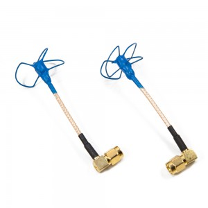 IBCrazy 5.8GHz Bluebeam whip Antenna / 90 degree SMA
