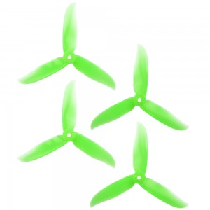 DAL 5x4.6 - 3 Blade, Crystal Green Cyclone Propeller - T5046C (Set of 4)
