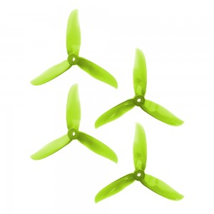 DAL 5x5 - 3 Blade, Crystal Green Cyclone Propeller - T5050C (Set of 4)