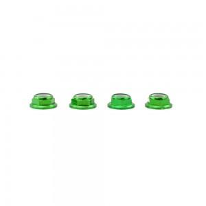 Lumenier M5 Green Aluminum Low Profile Lock Nut (set of 4 CCW)