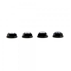 Lumenier M5 Black Aluminum Low Profile Lock Nut (set of 4 CCW)