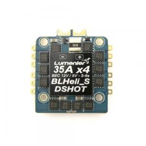 Lumenier BLHeli_S 35A 4-in-1 12v / 5v BEC DSHOT ESC +Current Sensor