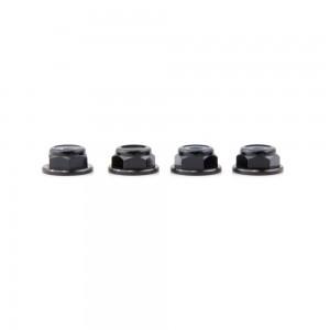 Lumenier M4 Black Aluminum Low Profile Lock Nut (set of 4 CCW)