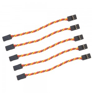 Male to Male Servo Extension Cable Twisted 22AWG - JR Style (5 pcs)