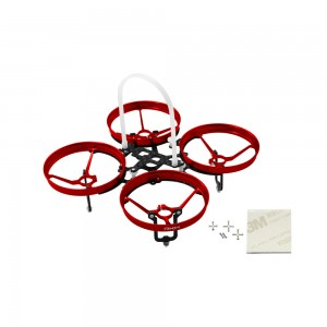 Rakonheli CNC AL and CF Upgrade Kit (7mm motor) (Red)