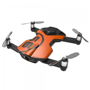 Wingsland S6 Foldable Pocket Drone - Orange (+2x Extra Batteries)