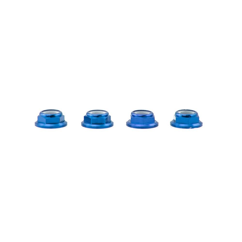 Lumenier M5 Blue Aluminum Low Profile Lock Nut (set of 4 CW)