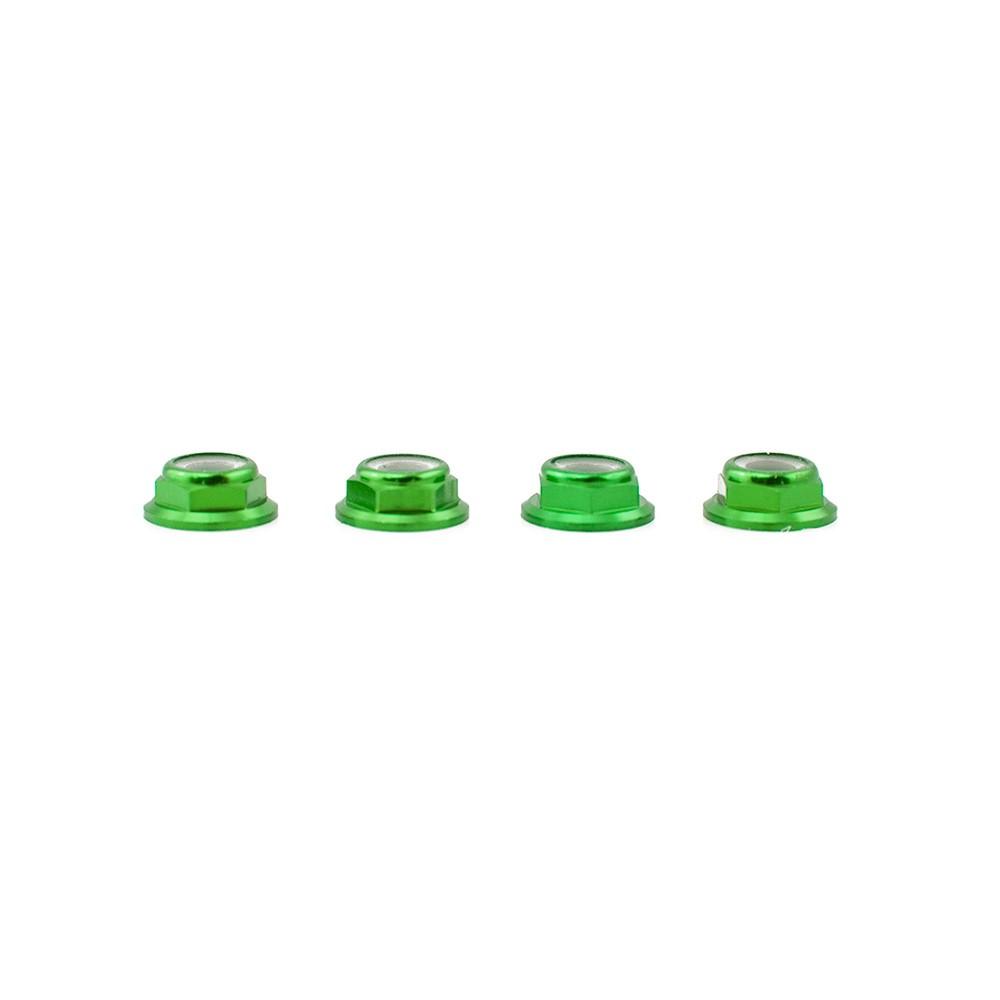 Lumenier M5 Green Aluminum Low Profile Lock Nut (set of 4 CW)