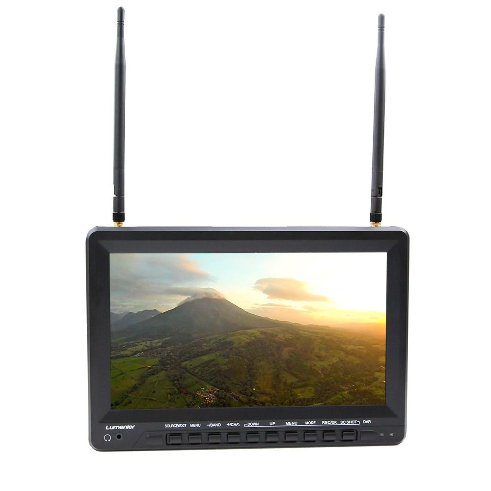 "10.1"" Lumenier Slim LCD FPV Monitor with 5.8GHz 39CH Diversity Rx, DVR, Battery"