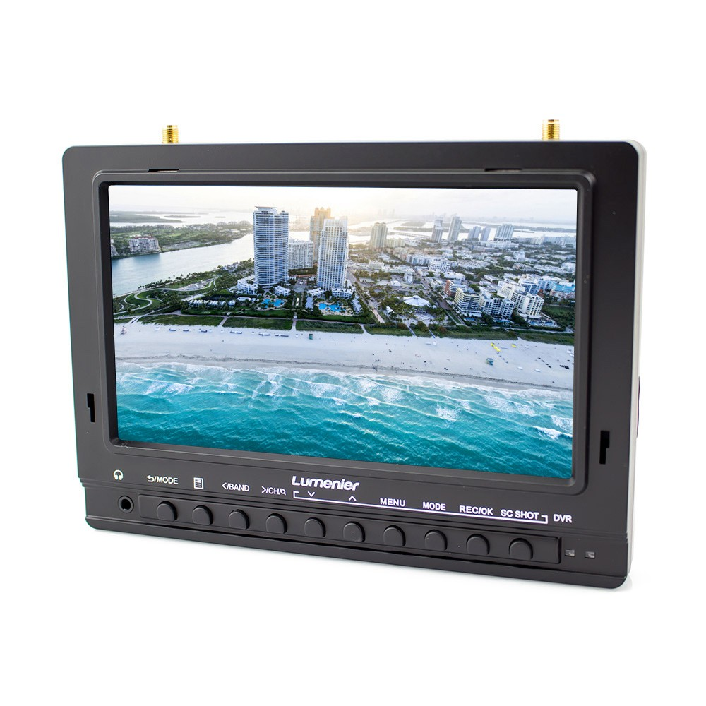 "7"" Lumenier 1000cd/m² Panel FPV Monitor w/ 5.8GHz 39CH Diversity Rx, Battery, DVR"