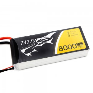 TATTU 8000mAh 4s 25c Lipo Battery
