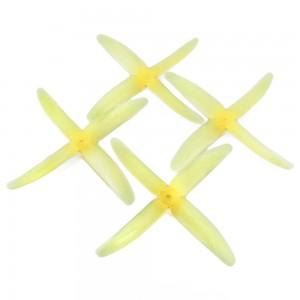RaceKraft 5x4 Clear 4 Blade (Set of 4 - Yellow)